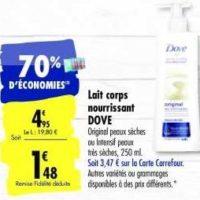 Lait Corps Dove chez Carrefour (28/01 – 03/02)