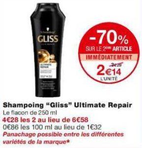Shampoing Gliss chez Monoprix (22/01 – 02/02)