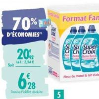 Lessive Liquide Super Croix chez Carrefour (07/01 – 20/01)