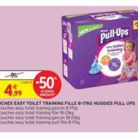 Culottes Pull-Ups Huggies chez Intermarché (14/01 – 26/01)