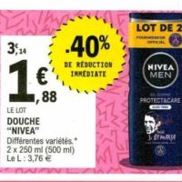 Gel Douche Nivea chez Leclerc (21/01 – 01/02)