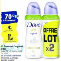 Déodorant Dove chez Carrefour (14/01 – 27/01)
