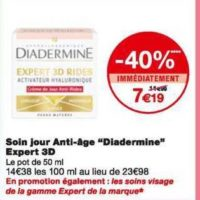 Crème Expert Diadermine chez Monoprix (22/01 – 02/02)