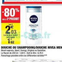 Gel Douche Men Nivea chez Carrefour Market (21/01 – 02/02)