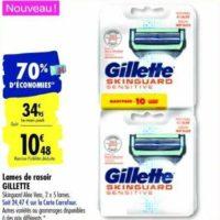 Lames de Rasoir Skinguard Gillette chez Carrefour (14/01 – 27/01)