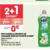 Liquide Vaisselle Mir chez Leader Price (21/01 – 26/01)