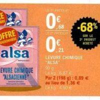 Levure Alsa chez Leclerc (21/01 – 01/02)