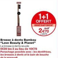Brosse à dents Love Beauty and Planet chez Monoprix (22/01 – 02/02)
