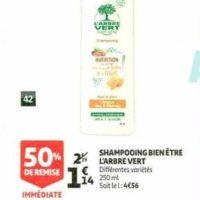 Shampoing L'Arbre Vert chez Auchan (22/01 – 28/01)