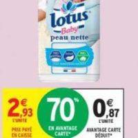 Coton Bébé Lotus chez Intermarché (14/01 – 26/01)