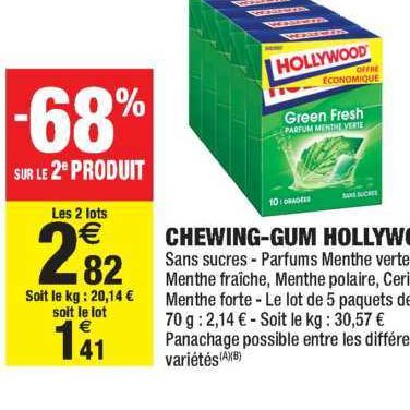 Chewing-Gum Hollywood chez Carrefour Market (21/01 – 02/02)