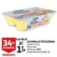Mini Lactés Blédina chez Auchan (15/01 – 21/01)
