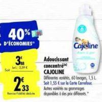 Assouplissant Cajoline chez Carrefour  (28/01 – 03/02)