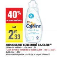 Assouplissant Cajoline chez Carrefour Market (28/01 – 02/02)