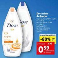 Gel Douche Dove chez Lidl (22/01 – 28/01)