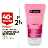 Gel Nettoyant Neutrogena chez Auchan (29/01 – 04/02)