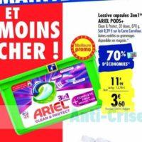 Lessive Ariel Pods 3en1 chez Carrefour (21/01 – 03/02)