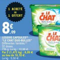 Lessive en Capsules Le Chat chez Leclerc (14/01 – 25/01)