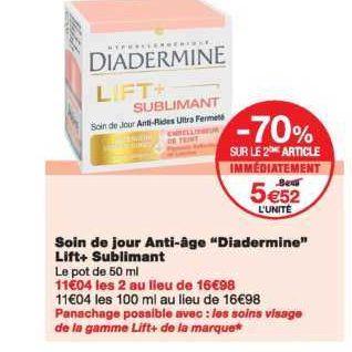 Crème Lift+ Diadermine chez Monoprix  (06/01 – 13/01)