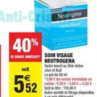 Soin Visage Neutrogena chez Carrefour Market (21/01 – 02/02)