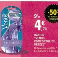 Rasoir Comfortglide Venus chez Leclerc (21/01 – 01/02)