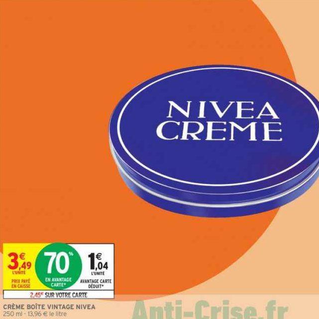 Crème Nivea chez Intermarché (14/01 – 19/01)