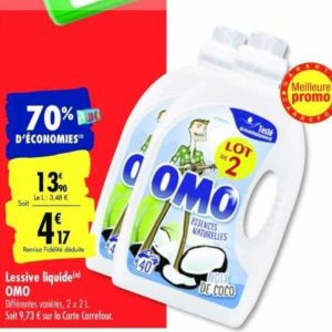 Lessive Liquide Omo chez Carrefour (21/01 – 03/02)