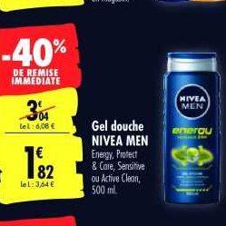 Gel Douche Homme Nivea chez Carrefour (07/01 – 20/01)