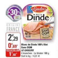 Blanc de dinde Le Gaulois chez G20 (29/01 – 09/02)