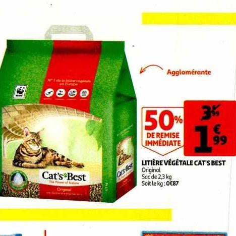 Litière pour Chats Cat's Best chez Auchan (22/01 – 28/01)