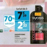 Shampoing Syoss chez Auchan (29/01 – 04/02)