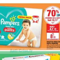 Couches Baby-Dry Pants Pampers chez Carrefour Market (07/01 – 19/01)
