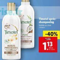 Après-shampoing Timotei chez Lidl (22/01 – 28/01)