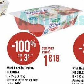 Mini Lactés Blédina chez Géant Casino (06/01 – 02/02)