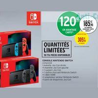 Console Nintendo Switch à 185,90€ chez Intermarché (21/01 – 02/02)