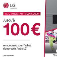 Offre de Remboursement LG : Jusqu'à 100€ sur Produit Audio