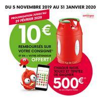 Offre de Remboursement Antargaz : 10€ Remboursés sur Consigne Calypso - anti-crise.fr