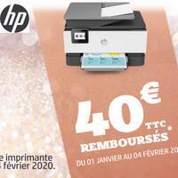 Offre de Remboursement hp : Jusqu'à 40€ Remboursés sur Imprimante HP Office Jet Pro