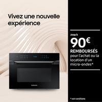 Offre de Remboursement Samsung : Jusqu'à 90€ Remboursés sur Micro-Ondes