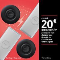 Offre de Remboursement Samsung : Jusqu'à 20€ Remboursés sur Batterie Externe ou Pad Induction