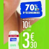 Douche & Bain Sanex chez Carrefour (07/01 – 20/01)