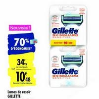 Lames de Rasoir Gillette Skinguard chez Carrefour (07/01 – 20/01)