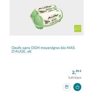 Oeufs Bio x6 Mas D'Auge Partout - anti-crise.fr