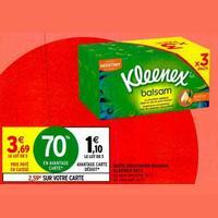Kleenex Balsam en Boîte chez Intermarché (21/01 – 02/02)