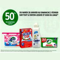Intermarché : 50% en remise Fidélité sur tout le rayon Lessive et Soin du Linge (28/01 – 02/02)
