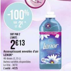 Adoucissant Envolée d'Air Lenor chez Géant Casino (06/01 – 12/01)