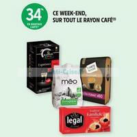 Intermarché : 34% en remise Fidélité sur tout le rayon Café (18/01 – 19/01)