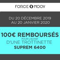 Offre de Remboursement Force Moov : 100€ Remboursés sur Trottinette Suprem 6400