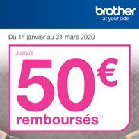 Offre de Remboursement Brother : Jusqu'à 50€ Remboursés sur Étiqueteuses