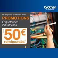 Offre de Remboursement Brother : Jusqu'à 50€ Remboursés sur Etiqueteuse Industrielle